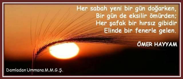 ömer Hayyam Her Sabah Damladan Ummana Mustafa Murat Güngör şiirleri